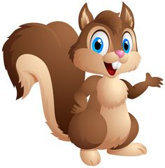 Cute Squirrel Cartoon PNG Clipart Image