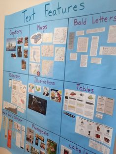 Text Feature Scavenger Hunts - have students create an interactive anchor chart! Teaching Made Practical Reading Lessons, Reading Skills, Teaching Reading, Guided Reading, Close Reading, Reading Strategies, Math Lessons, Glad Strategies, Reading Projects