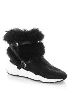 c6acf7e6431 ASH Moloko Fur Sneaker Booties.  ash  shoes  boots