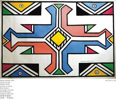 Esther Mahlangu Is Keeping Africa's Ndebele Painting Alive African Tattoo, Afrique Art, African House, African Theme, South African Artists, African Design, Look At You, Tribal Art, Art Google