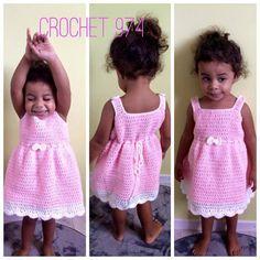 Made In Craftadise: Free Crochet Pattern: Summer Peach Toddler Dress