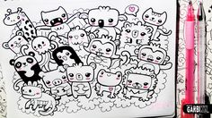 ♥ Kawaii Animals Party ♥ Hello Doodles ♥ Easy Drawings by Garbi ...