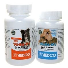 VEDCO VEDA-K1 25 MG VITAMIN K1 FELINE AND CANINE SUPPLEMENT 50CT SOFT CHEWS * You can get additional details at the image link.
