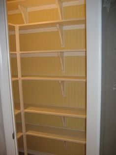 Pantry Corner Pantry And Melamine Shelving On Pinterest