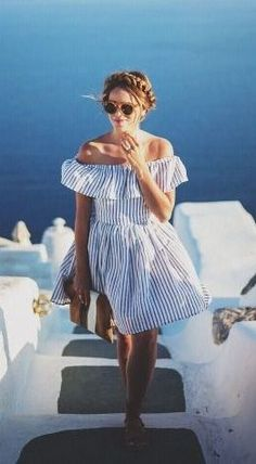 Mediterranean glam fashion.