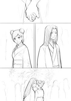 "xmonday-mintx: ""xmonday-mintx: """"A kiss with the rain of fire"" "" They were supposed to have a double date Some got lost somewhere "" Naruto Shippuden Sasuke, Anime Naruto, Tenten Y Neji, Naruto Fan Art, Sarada Uchiha, Naruto Cute, Naruto Funny, Manga Anime, Naruhina"