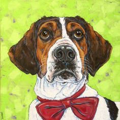 Pet Portraits by Bethany Gallery of Past Pet Paintings - Pet Portraits by Bethany Portrait Paintings, Animal Paintings, Pet Portraits, Basset Hound Mix, Treeing Walker Coonhound, Portrait Illustration, Affordable Art, Pet Gifts, Canvas