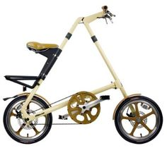 The bicycle is the near-perfect vehicle, but that doesn't stop people from (brilliantly) messing with the design to increase speed, comfort or desirability to commuters. Here are 10 innovative variations on the bike. Velo Vintage, Vintage Cycles, Folding Bicycle, Plastic Injection Molding, Style Retro, Baby Strollers, Bike, Pure Products, Cream