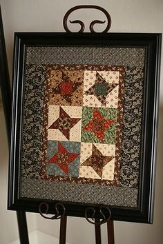 """""""Friendship Star Quilt"""" - smaller version from """"Prairie Children and their quilts"""" by Kathy Tracy Block size: 4 1/2"""" finish Size: 15 1/2'""""..."""