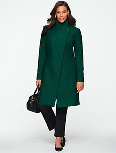 Talbots - Refined Melton Coat | Coats and Outerwear | Woman