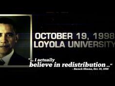 """I actually believe in redistribution"" - Barack Obama"
