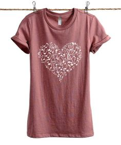 Thread Tank Heather Rouge Musical Notes Heart Tee - Women | Zulily
