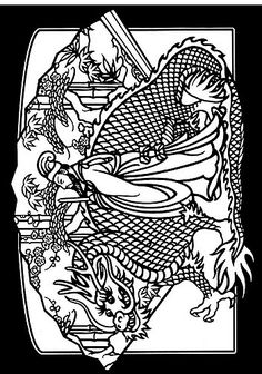 All sizes | Chinese Dragons Stained Glass Coloring Book 2 | Flickr - Photo Sharing!