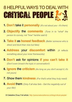 8 Helpful Ways To Deal With Critical People happy life happiness positive emotions lifestyle mental health personalities life tips self improvement self help emotional health Coping Skills, Social Skills, Social Work, Life Skills, Social Media, Critical People, Rude People, Judgmental People, Unhappy People