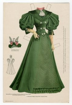 75.2345: Ladies' Redingote Costume | dress | Paper Dolls | Dolls | National Museum of Play Online Collections | The Strong