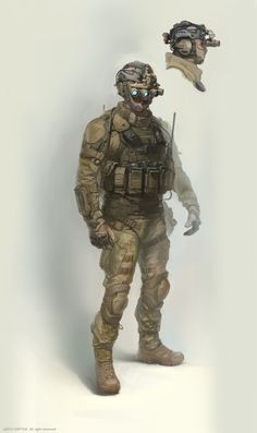 my concept art for crytek (us future soldier), Denis Didenko