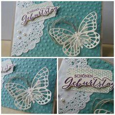 Geburtstagskarte Schmetterlingsgruß