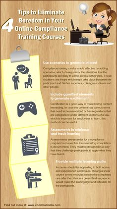 4 Tips to Make Online Courses for Compliance Training Interesting [Infographic]