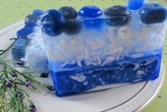 Soaps  Blueberry Soap  All Natural Glycerin Soap  by SoapGarden, $5.50