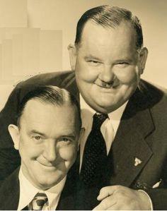 Très belle photo, de Laurel et Hardy