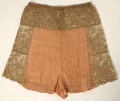 From Met Museum of Art Underpants Designer: Christophe Date: 1920s Culture: French Medium: silk, cotton