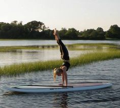 SUP Yoga north of Boston! Cape Ann SUPYoga! :) #handstand #relaxing