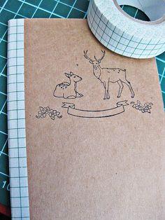 DIY moleskine Binding can cover staples
