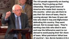 Bernie Sanders On Why Some Billionaires Are Running For The Border - Democratic Underground