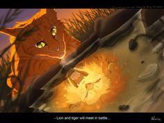 Warrior cats by Erin Hunter, art by Mizu-no-Akira. Firestar