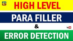 HIGH LEVEL - PARAFILLERS AND ERROR DETECTION   ENGLISH   ALL COMPETITIVE...