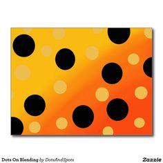 Dots On Blending Postcard