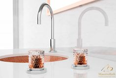 Luxurious Italian bathroom faucet with crystal knobs