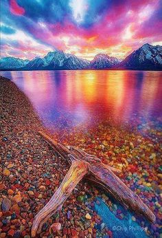 60 Engaging Photos of Charming Nature That Will Take You Into Fairytale (part 2), Jakson lake in Grand Teton National Park~ Wyoming, USA