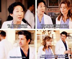 Cristina talking in code and Meredith immediately understanding it. Greys Anatomy Episodes, Greys Anatomy Funny, Grey Anatomy Quotes, Grey Quotes, Meredith Grey, Meredith And Christina, Grey's Anatomy, Tv Show Quotes, Movie Quotes