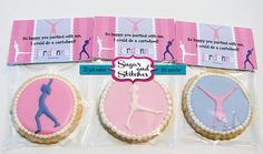 Gymnastics Cookies- idea for Kelsey's party favor Niece Birthday, Birthday Party Favors, Birthday Fun, Birthday Ideas, Birthday Parties, Gymnastics Birthday, Edible Creations, Colorful Birthday, Party Cakes