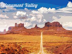 Monument Valley affiche voyage Art Print Home par Blivingstons