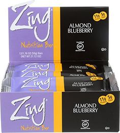 Zing Nutrition Bar, Almond Blueberry, 1.76 Ounce (Pack of 12) //Price: $25.01 & FREE Shipping //     #hashtag1