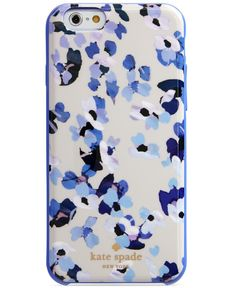 Make your tech bloom-kate spade new york's sleek resin case for your iPhone 6/6S showcases an artistic botanical motif. | Resin | Imported | Fits iPhones 6/6S | Scattered hydrangea design | Web ID:292