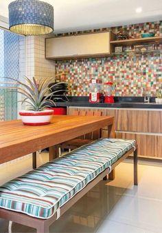 Cozinha colorida. #kitchen #cozinha #colorful #ambientedecorado