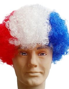 Black Afro Wig Fans Bulkness Cosplay Christmas Halloween Wig French Flag Wig 1pclot ** Learn more by visiting the affiliate link Amazon.com on image.