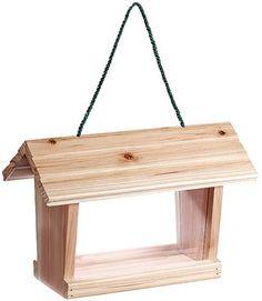 Wooden seed feeder - Lintulauta, puutalo - Biltema