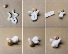 Kathi Pirati: Winterwoche 2015 - Mittwoch - Nativity Diy How to Make Red Christmas, Christmas Crafts, Christmas Ornaments, Diy Crafts To Do, Nativity Crafts, Clothespin Dolls, Theme Noel, Needle Felting, Projects To Try