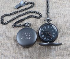Personalized Pocket Watch  Monogrammed  Gifts by tiposcreations, $32.99.... cool groomsmen's gifts