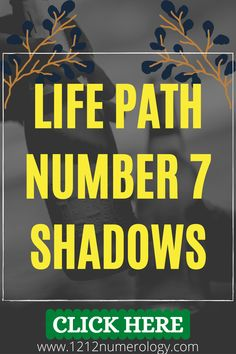 The Life Path 7 has very analytical, critical tendencies. Your habit of over-thinking can paralyze you at times, Number 7, preventing you from making any practical gains in life. Procrastination and the inability to make decisions (for fear of making the wrong one) can also be real negative problems. Life Path Number 7, Number Patterns, Numerology, The Life, The Secret, Paths, Meant To Be, Numbers, Times