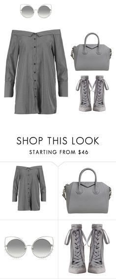 """""""Grey Bella *** (ms)"""" by ale-pink5 ❤ liked on Polyvore featuring Boohoo, Givenchy, Marc Jacobs and Zimmermann"""