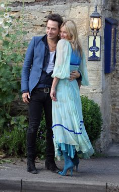 Kate Moss and Jamie Hince at The Swan, Southrop