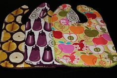 Food Themed Baby Bibs by kustomkate on Etsy, $14.00