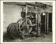 Old Otis elevator engine
