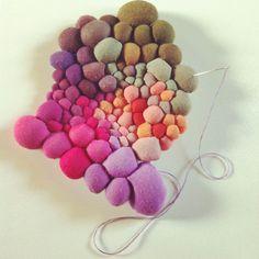 Волшебный мир цветных комочков от чилийской художницы Serena Garcia Dalla Venezia - Ярмарка Мастеров - ручная работа, handmade