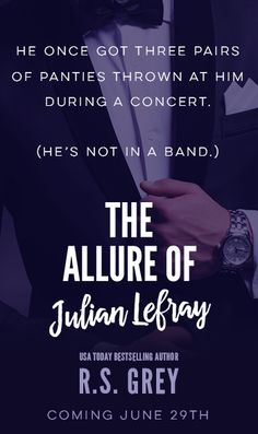 Glass Paper Ink Bookblog: The Allure of Julian LeFray by R.S. Grey - ARC review